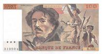 France 100 Francs Delacroix - 1989 Serial E.155 - aUNC