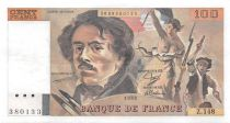 France 100 Francs Delacroix - 1989 Série Z.148 - SUP