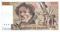 France 100 Francs Delacroix - 1989 TTB Hachuré