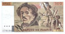 France 100 Francs Delacroix - 1989 VF