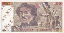 France 100 Francs Delacroix - 1990 - Serial B.143 - Cancelled Testnote - VF