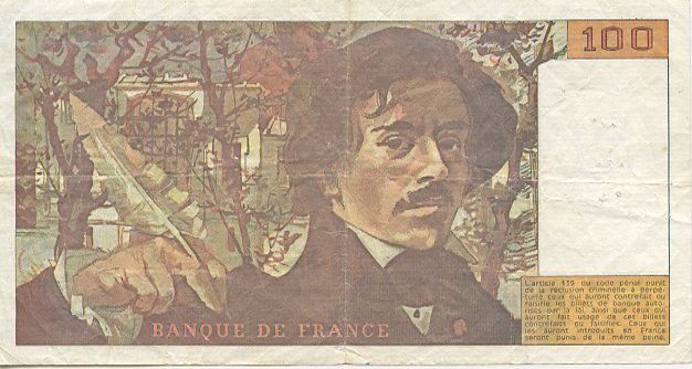France 100 Francs Delacroix - 1990 H.188