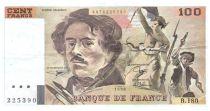 France 100 Francs Delacroix - 1990 Serial B.180 - VF