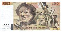 France 100 Francs Delacroix - 1990 Serial C.180 - VF