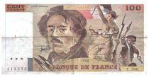 France 100 Francs Delacroix - 1990 Serial C.188 - F+