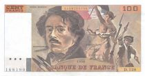 France 100 Francs Delacroix - 1990 Serial D.138 - AU