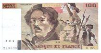 France 100 Francs Delacroix - 1990 Serial D.188 - VF+