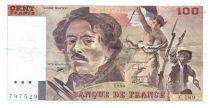 France 100 Francs Delacroix - 1990 Serial E.189 - VF