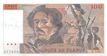 France 100 Francs Delacroix - 1990 Serial G.149 - XF