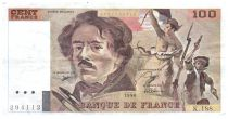 France 100 Francs Delacroix - 1990 Serial K.188 - VF