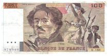 France 100 Francs Delacroix - 1990 Serial K.189 - F+