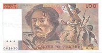 France 100 Francs Delacroix - 1990 Serial O.163 - XF