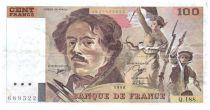 France 100 Francs Delacroix - 1990 Serial Q.188 - VF