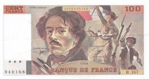 France 100 Francs Delacroix - 1990 Serial R.167 - Shift Watermark - XF