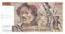 France 100 Francs Delacroix - 1990 Serial R.188 - F+