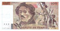 France 100 Francs Delacroix - 1990 Serial R.188 - VF