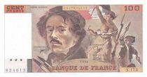 France 100 Francs Delacroix - 1990 Serial S.173 - aUNC