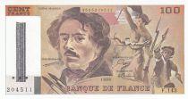 France 100 Francs Delacroix - 1990 Série F.143 - Barre annulation BDF