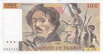 France 100 Francs Delacroix - 1990 Série G.135 - SUP