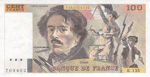 France 100 Francs Delacroix - 1990 Série K.135 - SUP