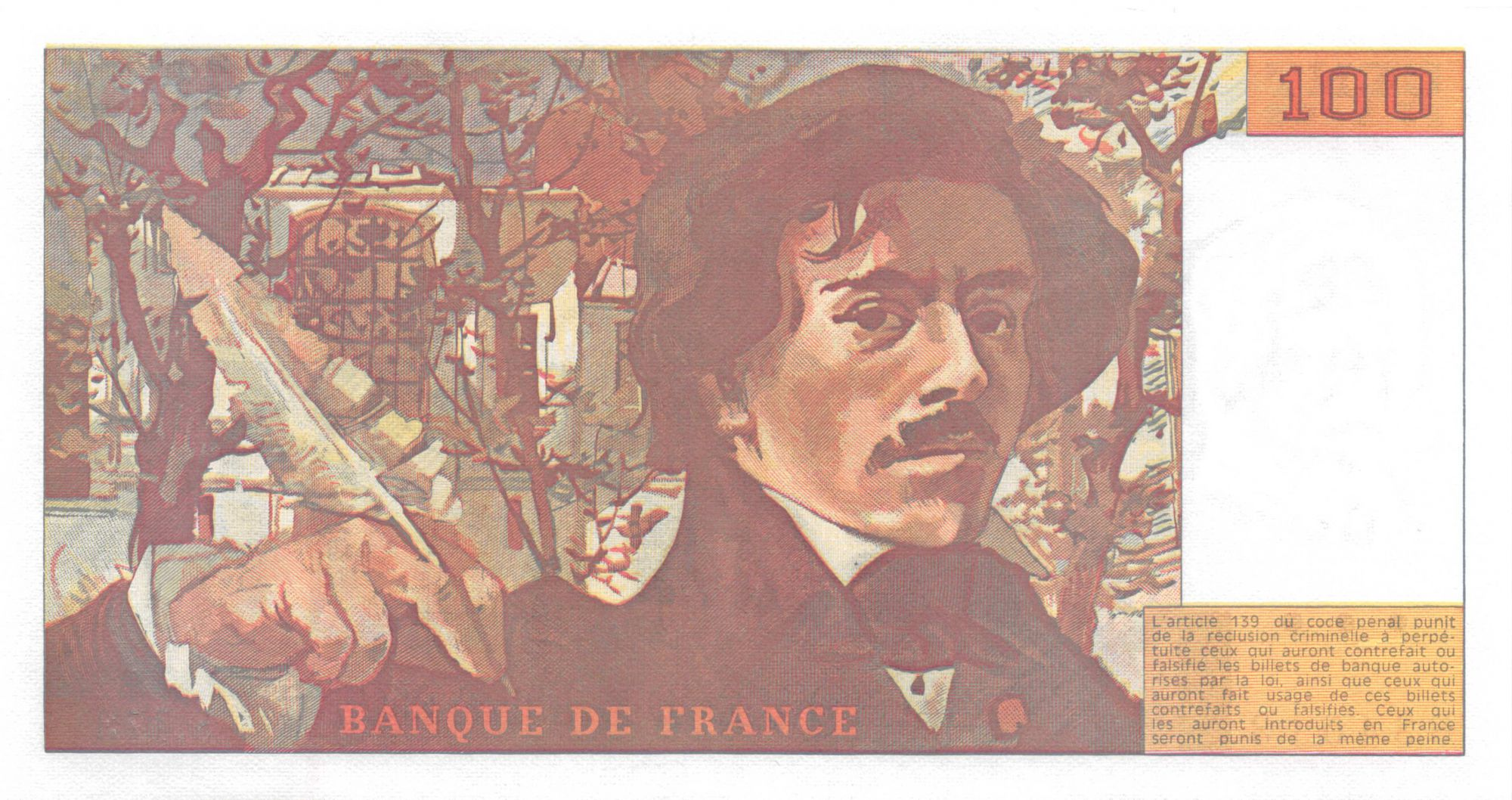 France 100 Francs Delacroix - 1990 Série S.173 - P.NEUF