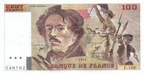 France 100 Francs Delacroix - 1990 TTB Hachuré