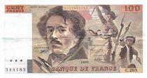 France 100 Francs Delacroix - 1991 Serial C.205 - VF