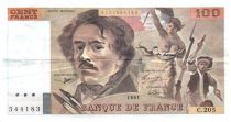 France 100 Francs Delacroix - 1991 Serial C.205 - VF