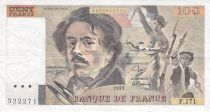 France 100 Francs Delacroix - 1991 Serial F.171 - Small watermark - F+