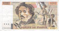 France 100 Francs Delacroix - 1991 Serial G.181 - F+