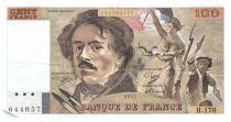 France 100 Francs Delacroix - 1991 Serial H.170 - Large watermark - VF