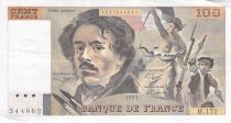 France 100 Francs Delacroix - 1991 Serial H.171 - Large watermark - F to VF
