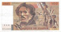 France 100 Francs Delacroix - 1991 Serial J.205 - VF