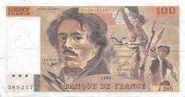 France 100 Francs Delacroix - 1991 Serial J.205-389257 - VF