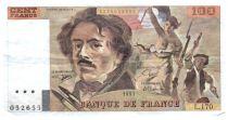 France 100 Francs Delacroix - 1991 Serial L.170 - Small watermark - VF