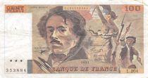 France 100 Francs Delacroix - 1991 Serial L.204 - VF