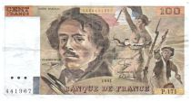 France 100 Francs Delacroix - 1991 Serial P.171 - Small watermark - F+