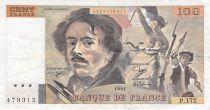 France 100 Francs Delacroix - 1991 Serial P.172 - F+