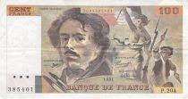 France 100 Francs Delacroix - 1991 Serial P.204 - F+
