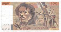 France 100 Francs Delacroix - 1991 Serial P.205 - VF