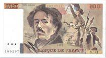 France 100 Francs Delacroix - 1991 Serial S.171 - Big watermark