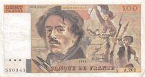 France 100 Francs Delacroix - 1991 Série A.202 - TB+