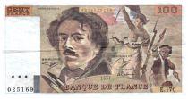 France 100 Francs Delacroix - 1991 Série E.170 - Grand filigrane - TTB