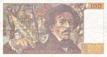 France 100 Francs Delacroix - 1991 Série F.171 - Petit filigrane - TB+