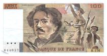 France 100 Francs Delacroix - 1991 Série H.170 - Grand filigrane - TTB
