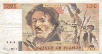 France 100 Francs Delacroix - 1991 Série J.181 - TB+