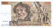 France 100 Francs Delacroix - 1991 Série P.171 - Petit filigrane - TB+