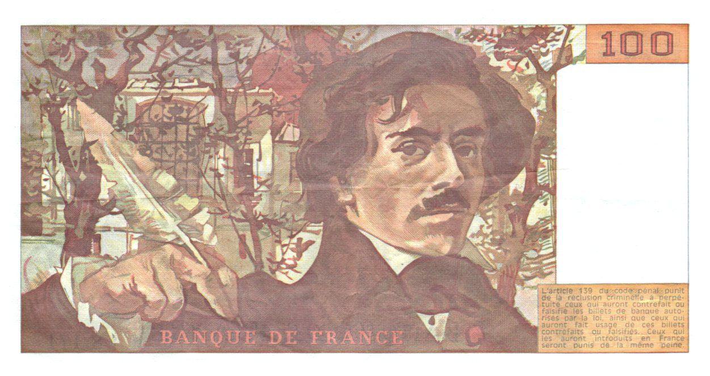 France 100 Francs Delacroix - 1991 Série S.171 - Petit filigrane - TTB+