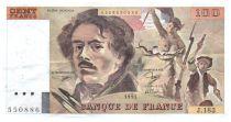 France 100 Francs Delacroix - 1991 TTB Hachuré