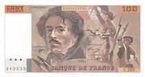 France 100 Francs Delacroix - 1993 Serial C.255 - AU